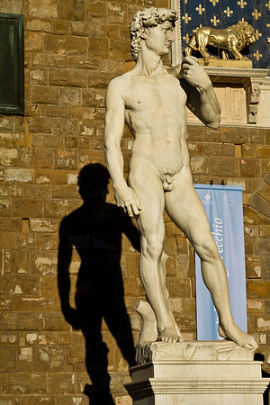 Copy of The David outside Palazzo Vecchio