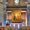 Fiesole, Italy – The Alter – This is the alter in the sanctuary of the monastery of San Francisco. One thing I discovered about Italians, they know how to build churches.
