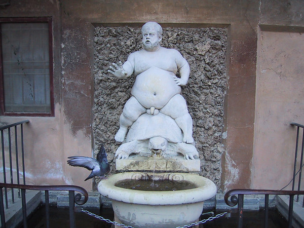 This fountain was too funny and disturbing for me to bypass.  It is my hope that in capturing this on film I won't start a fat-naked-guy-on-turtle fountain fad.