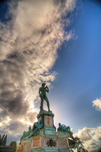Copy of Michelangelo's David at Michelangelo Plaza