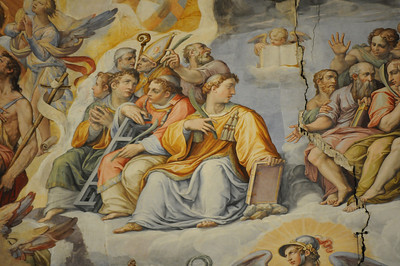 Frescos in the Basilica di Santa Maria ceiling