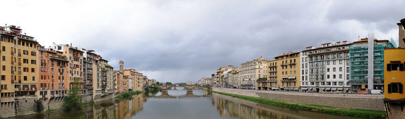 Arno River in Florence - View from the Ponte Vechio