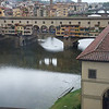 View of the River Arno and Ponte Vecchio from the Galleria deli Uffizi,  Florence