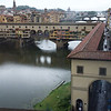 View of the River Arno and Ponte Vecchio from Galleria deli Uffizi, Florence