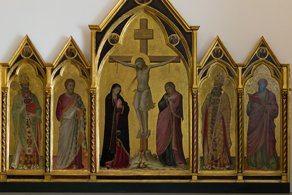 Crucifixion and Saints Nicholas, Bartholomew, Florentius, and Luke