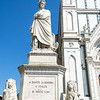 Statue of Dante Alighieri in front of the Basilica of the Holy Cross