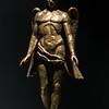 Sculpture of angel and boy, Art exhibit