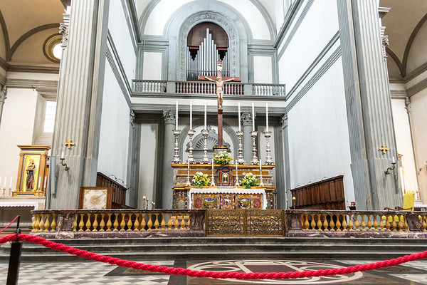 View of altar