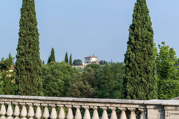 From the Abbey of San Miniato al Monte, looking at a Italian villa