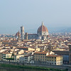 From near the Piazza Michelangelo, looking accross the Arno River at the Florence Cathedral
