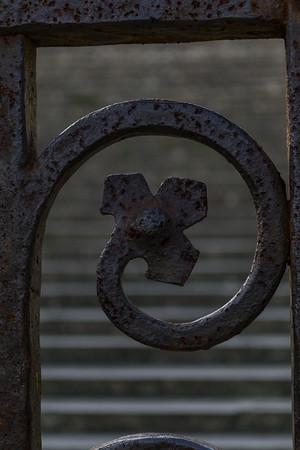 Design element in the gates of the Abbey of San Miniato al Monte