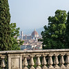 Looking north-west from San Miniato al Monte, accross the Arno River at the Florence Cathedral.