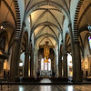 Looking down the nave at Giotto's Crucifix