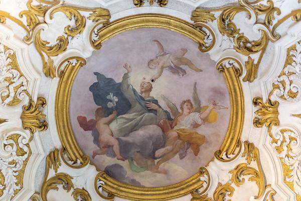Fresco medallion on the vault