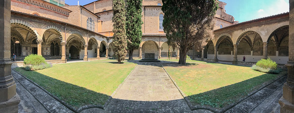 In the Great Cloister.