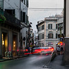 Long exposure of a Florence street