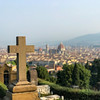 A cross grave-marker at the Abbey of San Miniato al Monte