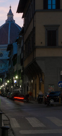 On Via Dell'oriuolo looking west to the Duomo