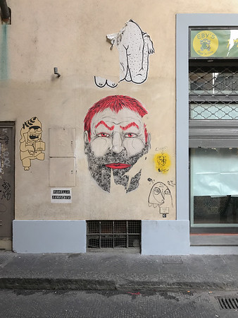 Graffiti on teh streets of Florence