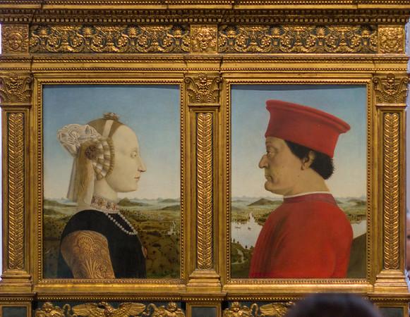 Diptych of the Duchess (Battista Sforza) and Duke (Federico da Montefeltro) of Urbino