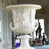 Artist: Unknown<br /> Name: Medici Vase<br /> Medium: Marble krater<br /> Size: 1.52 meters / approximately 5 feet<br /> Date: 1st century B.C.E.<br /> Location: Italy, Florence, Uffizi<br /> Remarks: Neo-Attic sculpture, sculpted in Athens. Scenes said to depict the Athenians gathered at Delphi before the Trojan War, as well as satyrs and a female figure, likely Iphigenia, seated below a statue of Artemis. Originally it was colored in blue, red and gold.
