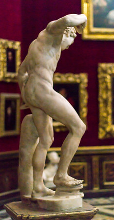 Medici faun (The Dancing Faun)--restored by Michael Angelo