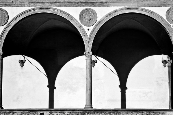 Courtyard detail in Santa Croce