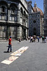 Street artist near the Baptistry and Duomo Florence