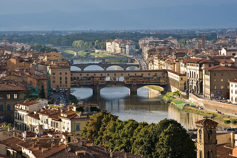 The Ponte Vecchio as viewed from Piazzale Michelangelo