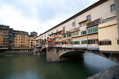 The Ponte Vecchio has had shops built into it since it's inception and they are still in use today.