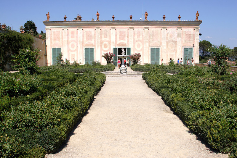Rose Garden and The Porcelain Museum at the Boboli Gardens Florence