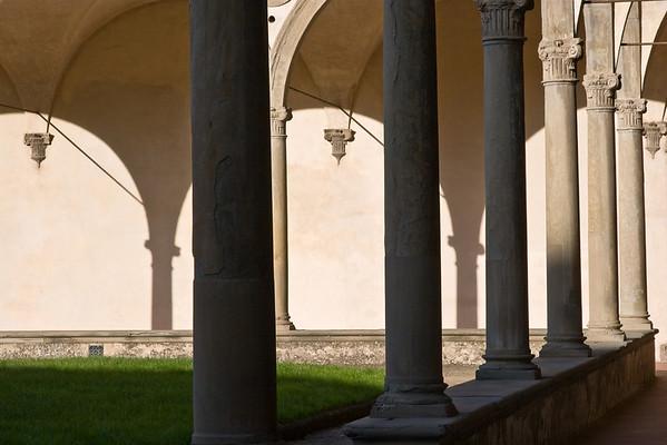 Courtyard detail in Santa Croce