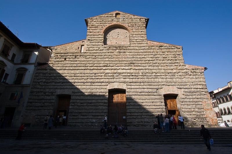 Entrance facade to Church of San Lorenzo
