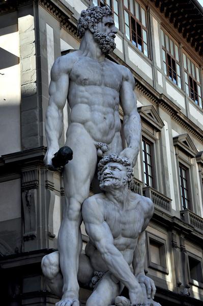 """Hercules and Cacus"", by Bandinelli (1533). In the Piazza della Signoria."