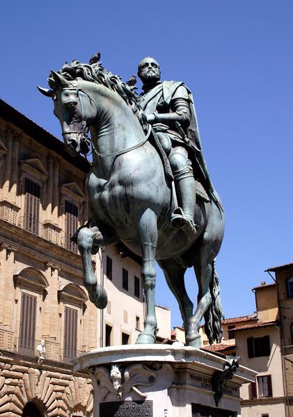 Statue of Grand Duke Cosimo I Piazza della Signoria Florence