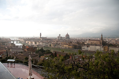 View of Florence from the Piazzala Michelangelo, a scenic overlook across the Arno River from the main part of town.