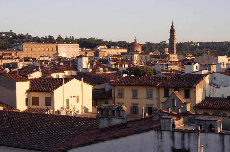 Florence rooftops at dusk