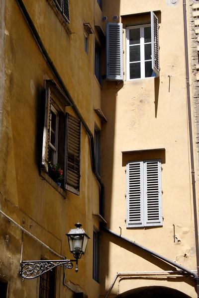 Closeup Building facade Florence
