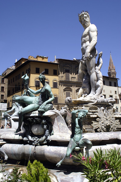 Neptune Fountain at the Piazza Della Signoria Florence