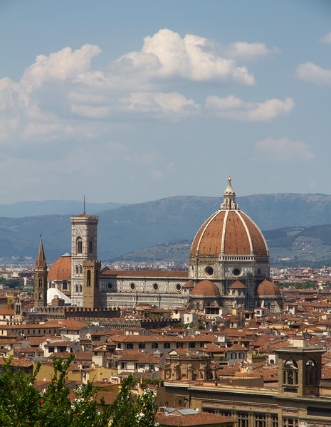 Florence, Italy with it's grand Cathedral appearing prominetly.