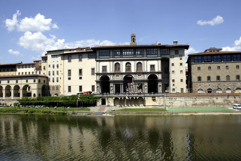 Uffizi Gallery and River Arno Florence