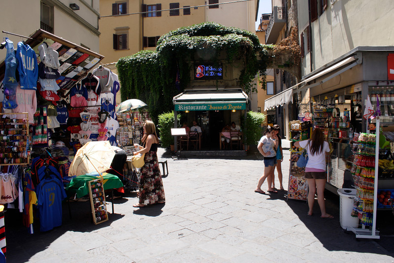 Tourist shops near the Duomo Florence