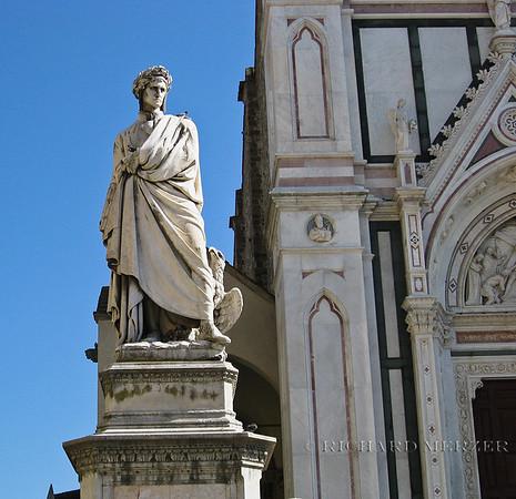 Santa Croce; statue of Dante