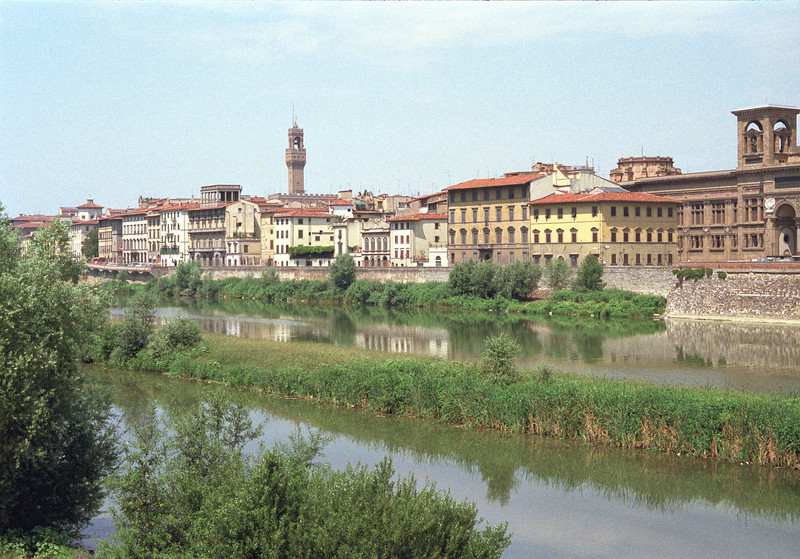 Florence cityscape and River Arno