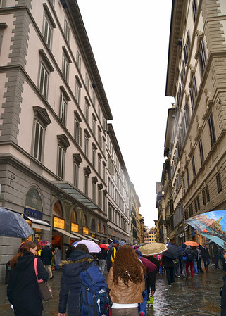 Walking through the streets of Florence