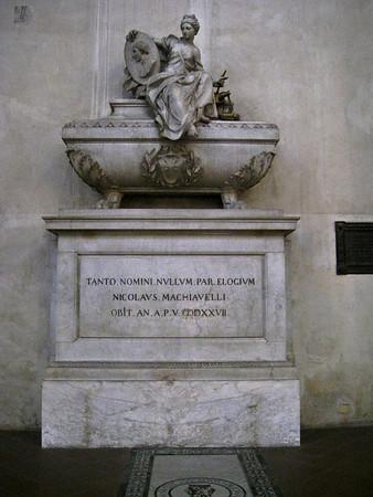 Machiavelli's Tomb in Santa Croce