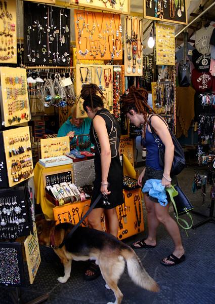 Jewellery stall at San Lorenzo street market Florence