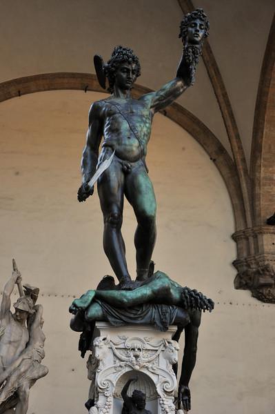 """""""Perseus with the Head of Medusa"""", by Cellini (1554). In the Loggia dei Lanzi, within the Piazza della Signoria."""