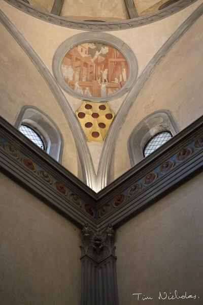 Triangles in the Old Sacristy of the Basilica di San Lorenzo