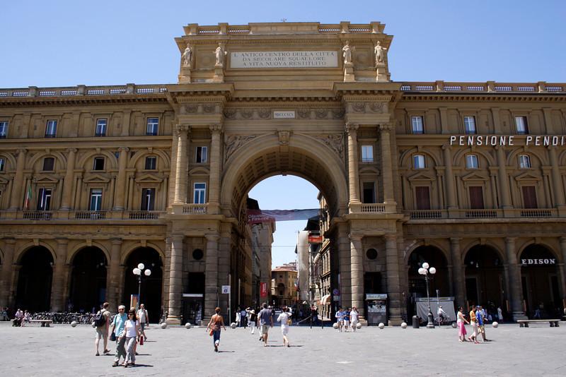 Triumphal arch Piazza Della Repubblica Florence